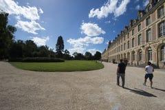 Slotten av Fontainebleau, Frankrike Arkivbilder