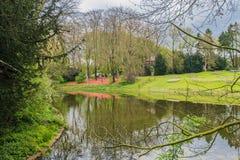 Slotten av Groot-Bijgaarden - trädgårdar Royaltyfria Bilder