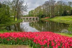 Slotten av Groot-Bijgaarden - trädgårdar Royaltyfri Bild
