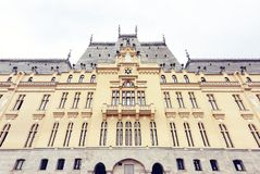 Slotten av kultur i Iasi, Rumänien royaltyfria bilder