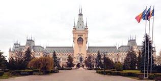 Slotten av kultur i Iasi, Rumänien royaltyfri bild