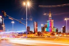Slotten av kultur och vetenskap, Warsaw arkivbild