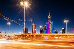 Slotten av kultur och vetenskap, Warsaw royaltyfri fotografi