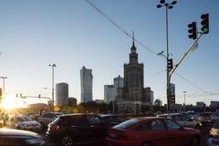 Slotten av kultur och vetenskap, Warsaw royaltyfri foto