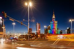 Slotten av kultur och vetenskap, Warsaw arkivfoton