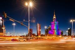 Slotten av kultur och vetenskap, Warsaw arkivfoto