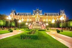 Slotten av kulturstora byggnaden i Iasi, Rumänien arkivfoto