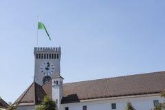 Slotten av Ljubljana Royaltyfri Bild