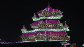 Slotten av ljus stock video