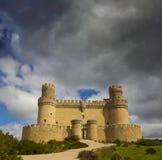 Slotten av Manzanares el Real, Madrid. Royaltyfri Foto