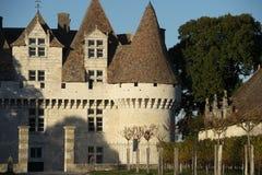 Slotten av Monbazillac, söta botrytized viner har gjorts i Monbazillac royaltyfri fotografi