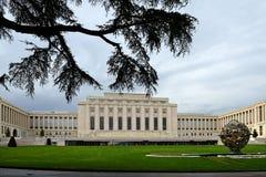 Slotten av nationer, Genève Schweiz Arkivbild