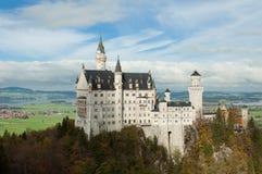 Slotten av Neuschwanstein i Bayern, Tyskland Arkivbilder