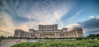 Slotten av parlamentet i Bucharest, Rumänien Arkivfoto