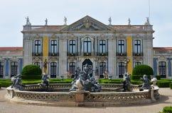 Slotten av Queluz är en lokaliserad för thårhundrade för portugis 18 slott Royaltyfria Bilder