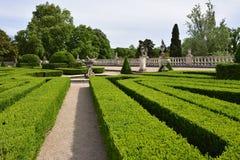 Slotten av Queluz är en lokaliserad för thårhundrade för portugis 18 slott Royaltyfri Fotografi