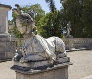 Slotten av Queluz i Portugal Arkivfoto