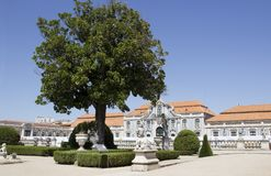 Slotten av Queluz i Portugal Arkivbild