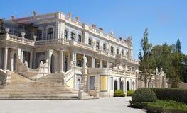 Slotten av Queluz i Portugal Arkivfoton