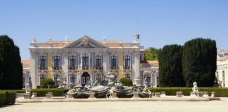 Slotten av Queluz i Portugal Arkivbilder