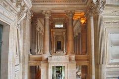 Slotten av rättvisa Palais de Justice, Justitiepaleis lagdomstolar av Bryssel, Belgien Arkivbilder
