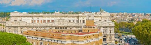 Slotten av rättvisa, Rome, Italien Arkivfoto