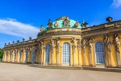Slotten av Sanssouci, Potsdam, Tyskland Arkivfoto