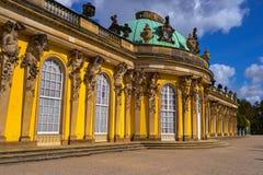 Slotten av Sanssouci (Schloss Sanssouci) Arkivfoton
