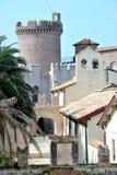 Slotten av Santa Severa Royaltyfri Bild