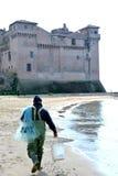 Slotten av Santa Severa Arkivbilder
