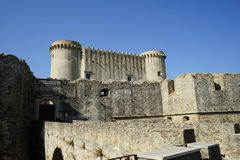 Slotten av Santa Severina, Calabria - Italien Fotografering för Bildbyråer