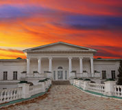 Slotten av Sokyryntsi parkerar Arkivfoto