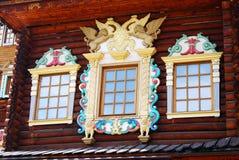 Slotten av tsar Alexey Mikhailovich i Kolomenskoye parkerar Royaltyfria Foton