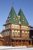 Slotten av tsaren Alexei Mikhailovich. Kolomenskoye. Moscow Royaltyfri Bild