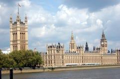 Slotten av Westminster, London, Storbritannien Royaltyfria Foton