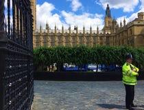 Slotten av Westminster - parlamentet av Förenade kungariket royaltyfri foto