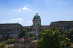 Slotten eller Royal Palace av den Budapest Ungern Royaltyfri Bild