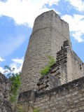 Slotten fördärvar Beaufort, Luxembourg Royaltyfri Bild