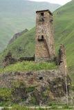 Slotten fördärvar, den georgiska militära vägen, Georgia Arkivfoton