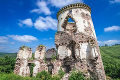 Slotten fördärvar i Ukraina royaltyfri foto