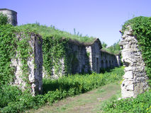 Slotten fördärvar Kamianets-Podilskyi royaltyfria foton