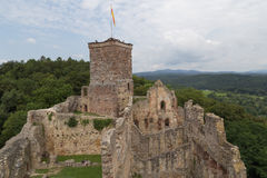 Slotten fördärvar Roetteln i Loerrach, Tyskland Arkivfoto