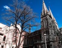 Slotten i den gotiska stilen Arkivfoto