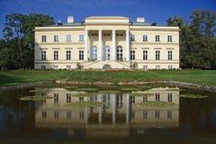 Slotten i Kostelec nad Orlicà Arkivbilder