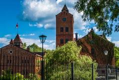 Slotten i staden av Radomyshl Arkivfoton