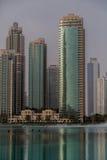 Slotten i stadens centrum Dubai Arkivfoton