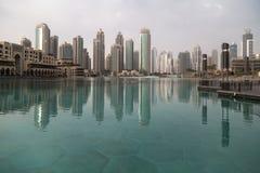 Slotten i stadens centrum Dubai Royaltyfri Foto