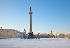 Slotten kvadrerar. St Petersburg. Ryssland Arkivbilder