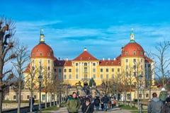 Slotten Moritzburg Royaltyfri Fotografi