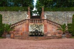 Slotten och parkerar Lichtenwalde Royaltyfria Bilder